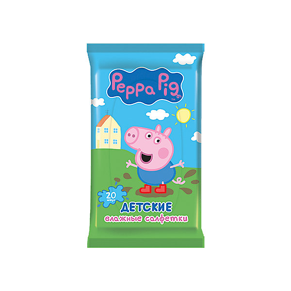 Фотография товара детские влажные салфетки Peppa Pig 20 шт, Авангард (5489920)