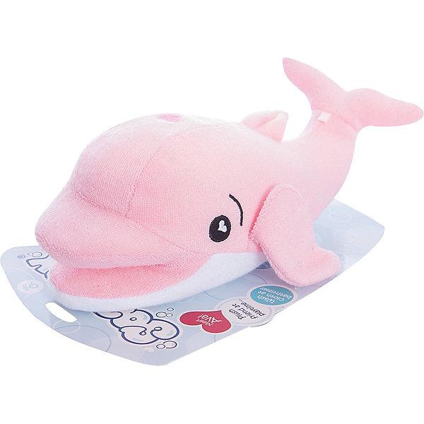 Губка для тела Дельфин Ава, SoapSoxТовары для купания<br>Губка для тела Дельфин Ава, SoapSox (Соап Сокс) <br><br>Характеристики:<br><br>• выполнена в виде забавного дельфина<br>• хорошо вспенивает мыло<br>• два кармашка для пальцев<br>• удобно сушить<br>• материал: антимикробный полиэстер, губка<br>• размер: 23х7,5х13 см<br>• размер упаковки: 22х8х28 см<br>• вес: 100 грамм<br><br>Губка SoapSox - настоящая палочка-выручалочка для родителей. Вы сможете использовать ее как губку или в качестве мягкой игрушки во время купания. С такой губкой даже привереда с радостью побежит купаться. Специальная технология позволяет создать большое количество пены, которая так нравится малышам. Для этого нужно заполнить внутренний карман жидким или твердым мылом и опустить губку в воду. После использования губку можно подвесить на небольшой шнурок.<br><br>Губка для тела Дельфин Ава, SoapSox (Соап Сокс)  можно купить в нашем интернет-магазине.<br>Ширина мм: 28; Глубина мм: 22; Высота мм: 8; Вес г: 0; Цвет: розовый; Возраст от месяцев: 12; Возраст до месяцев: 72; Пол: Унисекс; Возраст: Детский; SKU: 5489964;