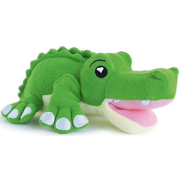 Губка для тела Крокодил Хантер, SoapSoxТовары для купания<br>Губка для тела Крокодил Хантер, SoapSox (Соап Сокс) <br><br>Характеристики:<br><br>• выполнена в виде забавного крокодила<br>• хорошо вспенивает мыло<br>• два кармашка для пальцев<br>• удобно сушить<br>• материал: антимикробный полиэстер, губка<br>• размер: 23х7,5х13 см<br>• размер упаковки: 22х8х28 см<br>• вес: 100 грамм<br><br>Губка для тела Крокодил Хантер понравится каждому малышу, ведь она очень милая и, к тому же, создает много пены. Для использования нужно наполнить внутренний карман мылом, а затем опустить губку в воду. Пышная мыльная пена вызовет восторг у вашего крохи! Два боковых кармашка позволят вам удобно зафиксировать губку в руке. Для сушки можно воспользоваться специальным шнурком. С веселым крокодилом Хантером купаться очень интересно!<br><br>Губку для тела Крокодил Хантер, SoapSox (Соап Сокс)  можно купить в нашем интернет-магазине.<br>Ширина мм: 28; Глубина мм: 22; Высота мм: 8; Вес г: 0; Цвет: зеленый; Возраст от месяцев: 12; Возраст до месяцев: 72; Пол: Унисекс; Возраст: Детский; SKU: 5489967;