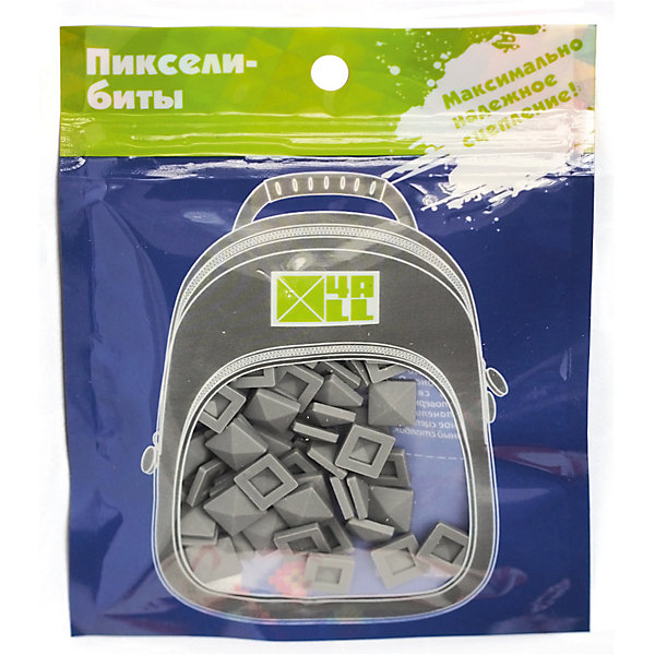 4ALL Набор для рюкзака пиксель-Бит, серый, 80 шт