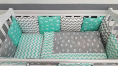 Детское постельное белье 3 предмета By Twinz, Короны, мятный, артикул:5491504 - Детский текстиль