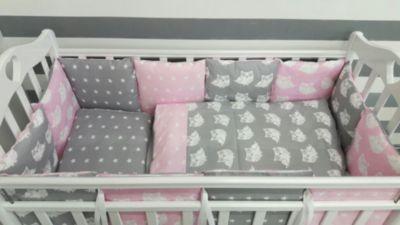 Детское постельное белье 3 предмета By Twinz, Совы, розовый, артикул:5491506 - Детский текстиль