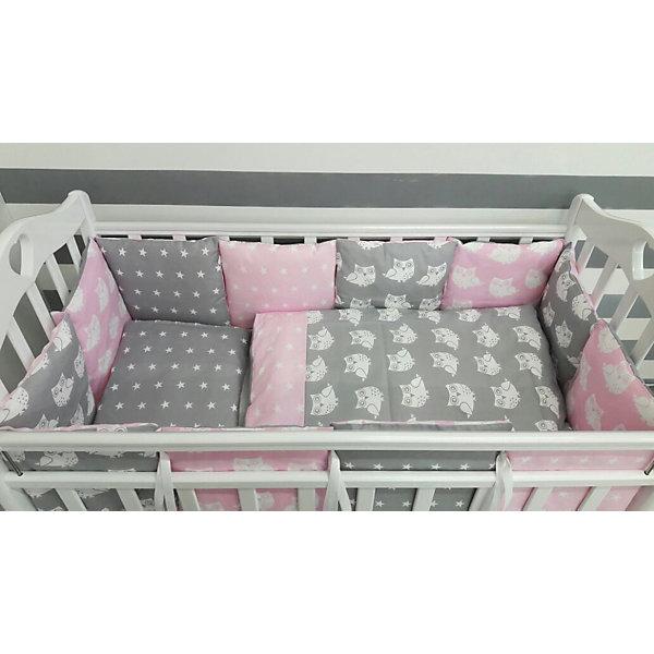 byTwinz Детское постельное белье 3 предмета By Twinz, Совы, розовый цена