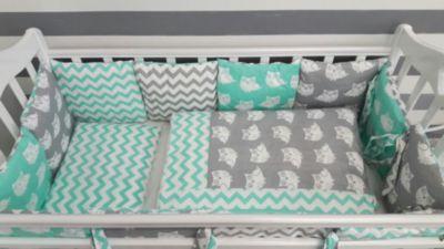 Детское постельное белье 3 предмета By Twinz, Совы, мятный, артикул:5491507 - Детский текстиль