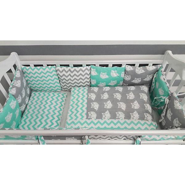 byTwinz Детское постельное белье 3 предмета By Twinz, Совы, мятный simon mignon детское постельное белье