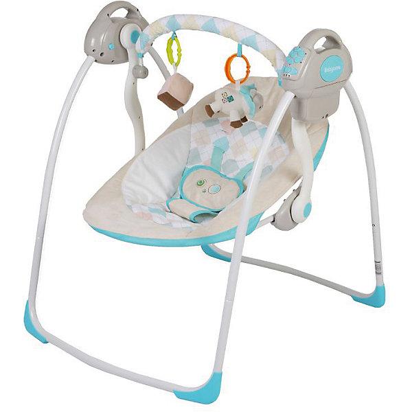 Baby Care Электрокачели Riva с адаптером, Baby Care, синий электрокачели baby care riva с адаптером кофейный