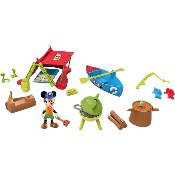 IMC Toys Disney Игровой набор Микки и весёлые гонки: Кемпинг (палатка 12 см, фиг. 8 см, аксесс.) imc toys disney мягкая игрушка микки и весёлые гонки поцелуй от микки 34 см интеракт звук