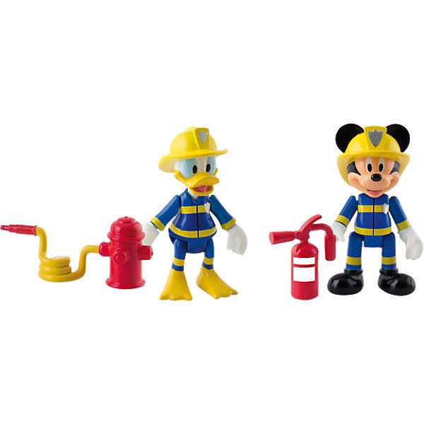 Купить Disney Набор фигурок Микки и весёлые гонки: Пожарные (Микки и Дональд, 8 см, аксесс.), IMC Toys, Китай, Мужской