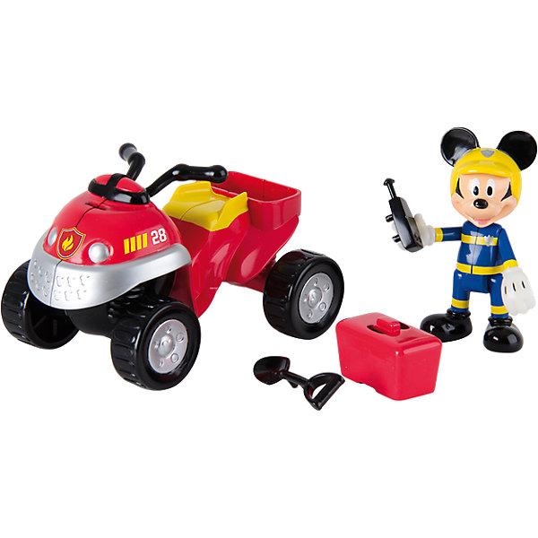 Фото - IMC Toys Игровой набор Disney Микки и весёлые гонки Пожарный квадроцикл imc toys интерактивная мягкая игрушка imc toys disney mickey mouse микки и весёлые гонки минни маус