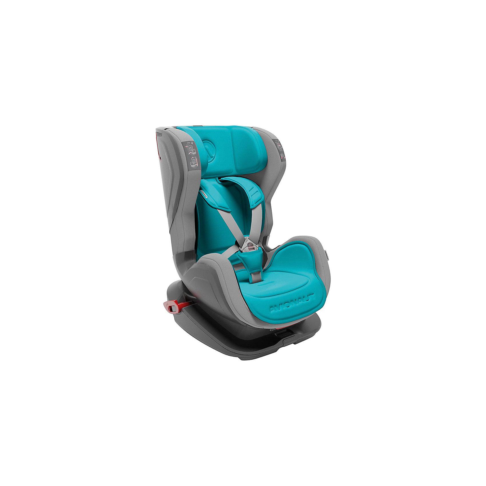Автокресло Avionaut GLIDER, 9-25кг, голубой/серый