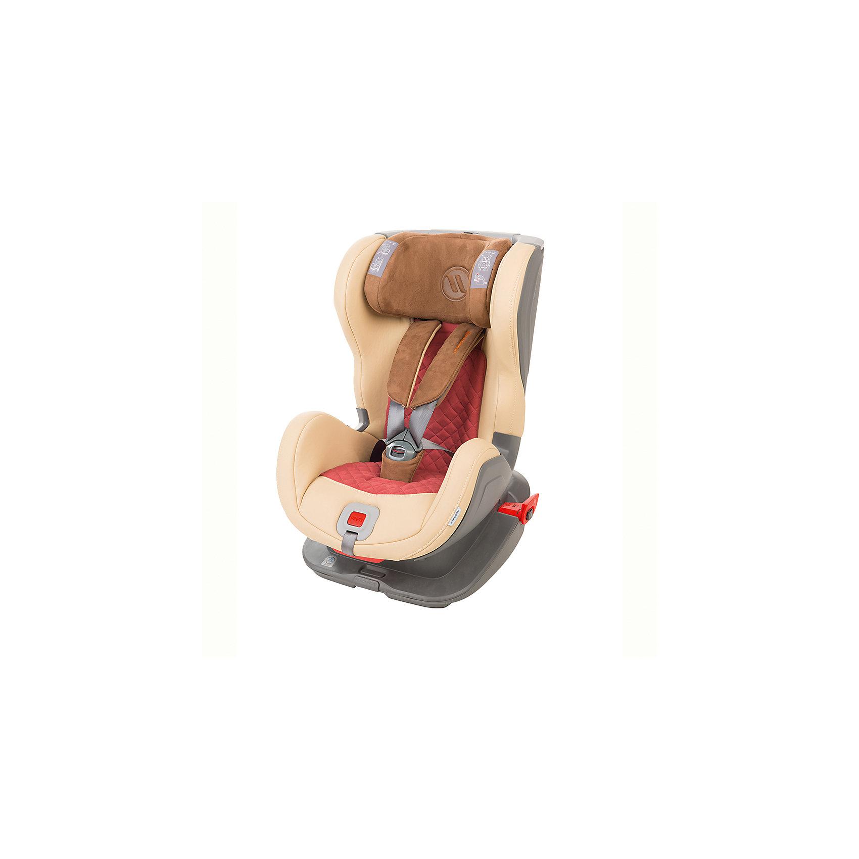 Автокресло Avionaut GLIDER ROYAL, 9-25кг, бежевый/т.красный/коричневый