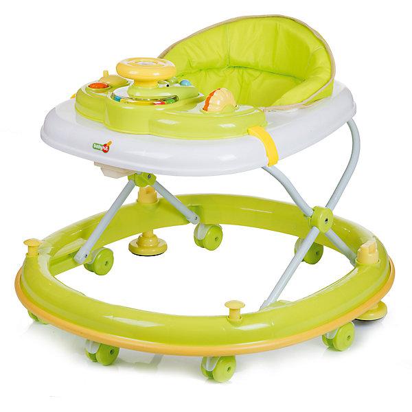 Ходунки CLEVER, Babyhit, зелёныйХодунки<br>Характеристики:<br><br>• закругленная база с мягкой окантовкой;<br>• защита от появления царапин на мебели и стенах;<br>• регулируется высота ходунков, 3 положения;<br>• игровая панель с развивающими игрушками;<br>• световое и звуковое сопровождение;<br>• наличие сдвоенных колесиков со стопорами;<br>• съемный чехол сиденья для ухода и очистки;<br>• компактное складывание;<br>• размер упаковки: 71,5х11х66,5 см;<br>• вес: 4,8 кг.<br><br>Продуманная до мелочей конструкция ходунков предоставляет ребенку свободу перемещений в пространстве на этапе его роста и развития. Малыш находится в ходунках в сиденье-коконе, с высокой спинкой в мягкой обивке. Игровая панель для игры и развития ребенка имеет звуковой модуль и подвижные элементы. Основание ходунков имеет прорезиненную накладку по всему диаметру, которая предотвратит мелкие царапины на мебели во время путешествий ребенка в ходунках в помещении. <br><br>Ходунки CLEVER, Babyhit, цвет зеленый можно купить в нашем интернет-магазине.<br>Ширина мм: 715; Глубина мм: 110; Высота мм: 665; Вес г: 4800; Возраст от месяцев: 6; Возраст до месяцев: 18; Пол: Унисекс; Возраст: Детский; SKU: 5500344;