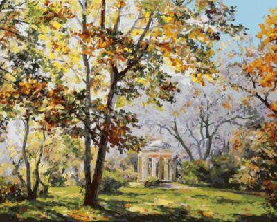 Живопись на холсте  Ротонда в парке Екатерингоф , 40*50 см, артикул:5500378 - Раскраски