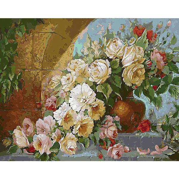 Купить Живопись на холсте Королевский букет , 40*50 см, Белоснежка, Китай, Унисекс