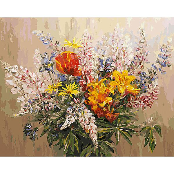Купить Живопись на холсте Букет с желтыми лилиями , 40*50 см, Белоснежка, Китай, Унисекс