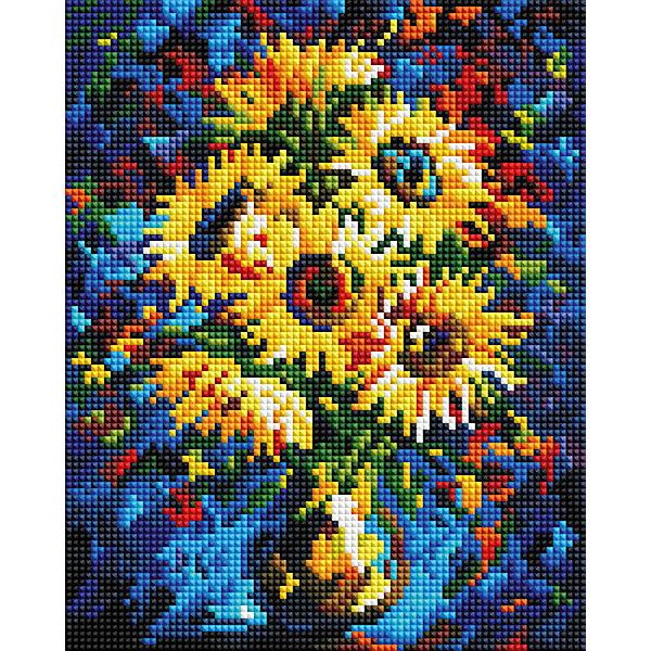 Белоснежка Мозаичная картина Ночные подсолнухи набор для творчества белоснежка мозаичная картина 40 50см сирень