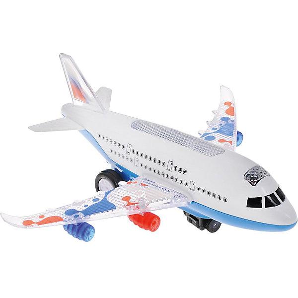 ABtoys Самолет, со светом и и звуком, ABtoys abtoys abtoys конструктор kidblock со щетинками 150 деталей