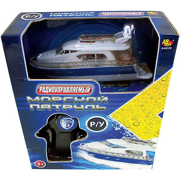 """Фотография товара радиуправляемый катер """"Морской патруль"""", белый, ABtoys (5500911)"""