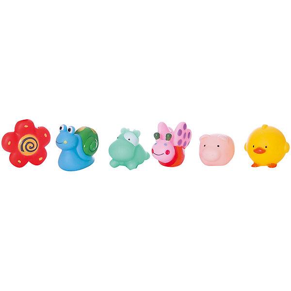 Купить Набор резиновых игрушек для ванной Веселое купание , 6 предм., ABtoys, Китай, Унисекс