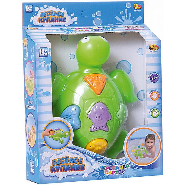 ABtoys Черепашка для ванной, в наборе с аксессуарами, Веселое купание, 5 предм., ABtoys игрушка abtoys веселое купание pt 00541