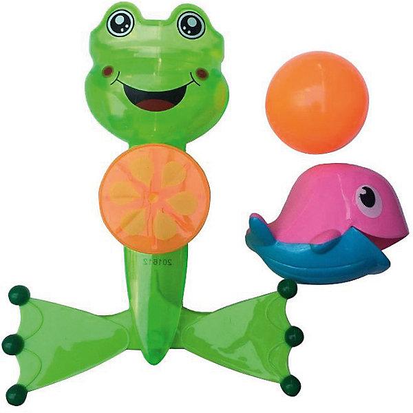Лягушка-мельница для ванной, с аксессуарами, Веселое купание, ABtoysИгровые наборы для купания<br>Характеристики:<br><br>• тип игрушки: игрушки для ванной;<br>• возраст: от 1,5 лет;<br>• вес: 145 гр;<br>• комплектация: лягушка-мельница, дельфин, мячик;<br>• размер: 21x28x6,5 см;<br>• бренд: Abtoys;<br>• упаковка: блистер;<br>• материал: пластик.<br><br>Лягушка-мельница для ванной с аксессуарами из сери «Веселое купание» от бренда ABtoys станет отличным подарком для ребенка от 18 месяцев. Лягушонок крутиться и создаёт вокруг себя множество брызг, чем сильно порадует ребенка. При этом игрушке не страшна вода, потому что все детали изготовлены из качественного пластика и покрыты влагоустойчивыми красителями.<br><br>С такой игрой ребенок не только весело проведет время, но и сможет развить цветовое восприятие, концентрацию внимания, ловкость, тактильные ощущения и координацию.<br><br>Все детали игрушки изготовлены из безопасного пластика, который прошел всю необходимую сертификацию. Каждый предмет окрашен нетоксичными насыщенными красителями.<br><br>Лягушку-мельницу для ванной с аксессуарами из сери «Веселое купание» от бренда ABtoys можно купить в нашем интернет-магазине.