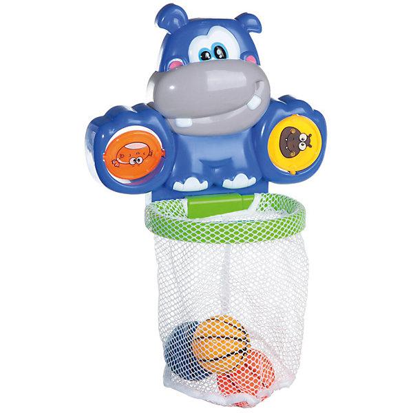 Водный баскетбол для ванной, с аксессуарами, 6 предм, Веселое купание, ABtoysИгрушки для ванной<br>Характеристики:<br><br>• возраст: от 1 года;<br>• тип игрушки: для купания;<br>• размер: 28х42х7 см;<br>• упаковка: коробка<br>• материал: пластик;<br>• комплект: бегемотик с кольцом-сеткой, 3 баскетбольных мяча, 2 вращающихся диска;<br>• бренд: ABtoys;<br>• страна производитель: Китай.<br><br>Водный баскетбол для ванной  с аксессуарами подойдет для малышей от года. Игрушка выполнена в виде баскетбола, имеет дополнительные аксессуары. Набор состоит из бегемотика с кольцом-сеткой, 3 баскетбольных мячей и 2 вращающихся дисков.<br><br>Главный элемент набор, баскетбольное кольцо, крепится к подставке, выполненной в виде бегемотика. У него доброжелательный внешний вид и смешно торчащие в разные стороны ушки. Чтобы использовать игрушку в ванной необходимо закрепить ее на любой ровной поверхности.<br><br>Игры в процессе купания способствуют развитию координации ребенка, а также дают простор для его фантазии и воображения<br><br>Водный баскетбол для ванной  с аксессуарами можно купить в нашем интернет-магазине.<br>Ширина мм: 415; Глубина мм: 65; Высота мм: 275; Вес г: 460; Возраст от месяцев: 36; Возраст до месяцев: 96; Пол: Унисекс; Возраст: Детский; SKU: 5500933;