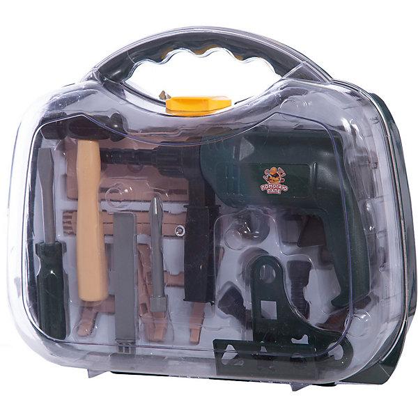ABtoys Набор инструментов в чемодане Помогаю Папе, 22 предм., ABtoys игра abtoys набор инструментов помогаю папе pt 00570
