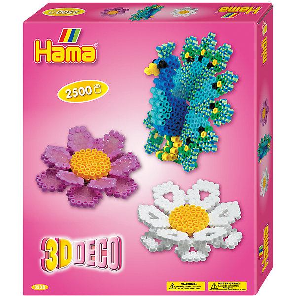 Термомозаика Hama Perlen 3D Цветы + 1 основа, 2500 бусинТермомозаика<br>Характеристики:<br><br>• возраст: от 5 лет;<br>• материал: пластик, бумага;<br>• комплектация: бусины 2500 шт.. Микс. 1 основа круг, размер 12*12*0,5 см. Подставка 1 шт., цветная книжечка с примерами, термобумага, инструкция;<br>• вес: 510 гр;<br>• размер: 24x21х4 см;<br>• бренд: Hama Perlen.<br><br>Набор 3D 2500 деталей + 1 основа подходит для детей от 5 лет для развития. Представленный набор позволяет развивать моторику рук, усидчивость и внимательность. <br><br>Используя разноцветные бусины создать яркую фигурку просто: соберите фигурку из бусин, сверху покройте гладильной бумагой и соедините бусины с помощью утюга, и великолепная фигурка готова! <br><br>Набор 3D 2500 деталей + 1 основам можно купить в нашем интернет-магазине.<br>Ширина мм: 252; Глубина мм: 210; Высота мм: 40; Вес г: 273; Возраст от месяцев: 60; Возраст до месяцев: 120; Пол: Женский; Возраст: Детский; SKU: 5501085;