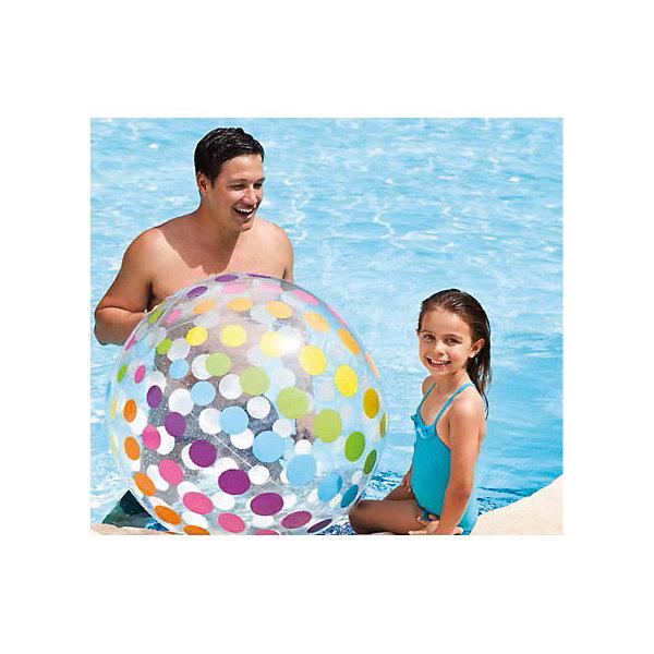 Надувной мяч Гигант, 107 см, IntexМячи детские<br>Характеристики товара:<br><br>• материал: ПВХ. <br>• диаметр: 107 см. <br>• толщина покрытия: 0,25 мм. <br>• яркий привлекательный дизайн. <br>• для детей от 3 лет.<br><br>Большой яркий надувной мяч с приведет в восторг вашего юного непоседу. Мяч подходит для игр в воде, изготовлен из высококачественных прочных материалов безопасных для детей.<br><br>Надувной мяч Гигант, 107 см, Intex (Интекс), можно купить в нашем интернет-магазине.<br>Ширина мм: 317; Глубина мм: 260; Высота мм: 28; Вес г: 488; Возраст от месяцев: 36; Возраст до месяцев: 192; Пол: Унисекс; Возраст: Детский; SKU: 5501944;