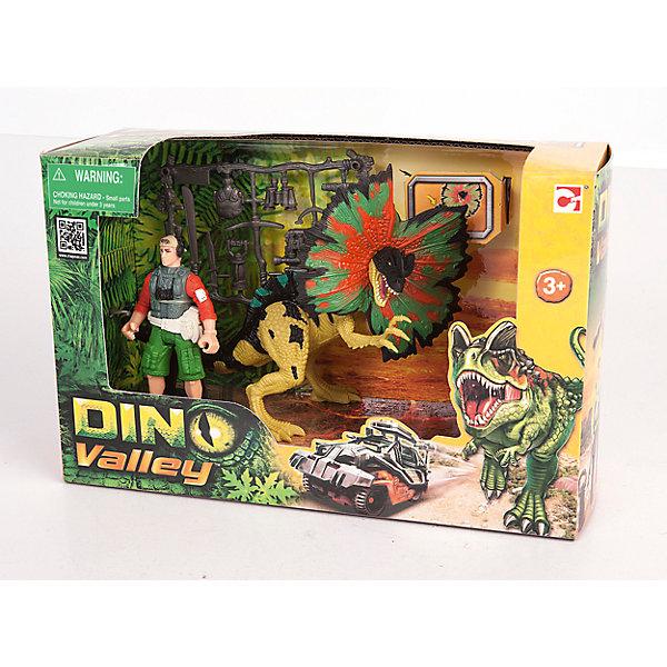 Chap Mei Набор: Дилофозавр и охотник со снаряжением, Chap Mei chap mei набор chap mei нано армия со звуком и светом