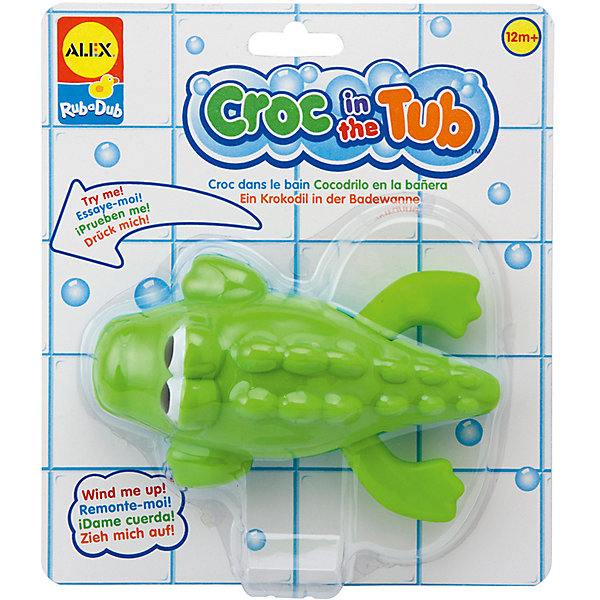 ALEX Игрушка для ванны Крокодил,