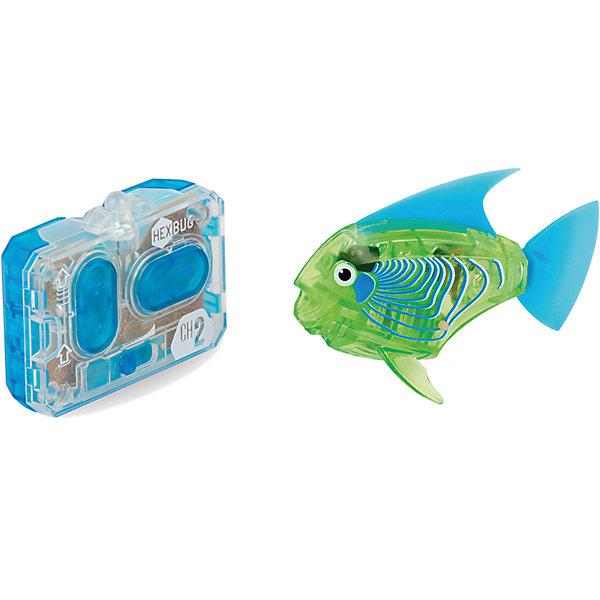Микро-робот Aqua Bot, зеленый, HexbugИнтерактивные животные<br>Микро-робот Aqua Bot, зеленый, Hexbug (Хексбаг)<br><br>Характеристики:<br><br>• плавает в любом направлении<br>• автоматическое отключение вне воды<br>• цвет: зеленый<br>• размер: 8х4х2 см<br>• батарейки: AG13 - 2 шт. (входят в комплект)<br>• материал: пластик, металл<br>• размер упаковки: 19х6х4 см<br>• вес: 31 грамм<br><br>Aqua Bot - маленькая рыбка-робот, которая поразит вас своими размерами и ловкостью. Этот малыш быстро передвигается в воде в любом направлении. Положите микроробота в воду - и он тут же отправится покорять водное пространство. Если вытащить робота из воды, он автоматически отключается для экономии энергии. Такая замечательная игрушка, несомненно, понравится всем членам семьи!<br><br>Микро-робот Aqua Bot, зеленый, Hexbug (Хексбаг) можно купить в нашем интернет-магазине.<br>Ширина мм: 160; Глубина мм: 90; Высота мм: 120; Вес г: 85; Возраст от месяцев: 36; Возраст до месяцев: 2147483647; Пол: Унисекс; Возраст: Детский; SKU: 5507180;