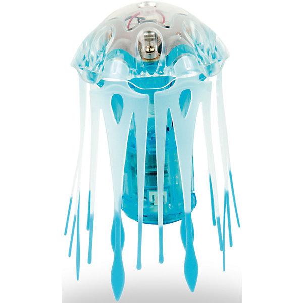 Микро-робот Aqua Bot Медуза, синий, HexbugИнтерактивные животные<br>Микро-робот Aqua Bot Медуза, синий, Hexbug (Хексбаг)<br><br>Характеристики:<br><br>• плавает в любом направлении<br>• автоматическое отключение вне воды<br>• световые эффекты<br>• гибкие щупальца<br>• цвет: синий<br>• размер: 4х4х6 см<br>• батарейки: AG13 - 3 шт. (входят в комплект)<br>• материал: пластик, металл<br>• размер упаковки: 12,5х7х17 см<br>• вес: 70 грамм<br><br>Aqua Bot Медуза - настоящая находка для любителей микророботов. При попадании в воду он начинает плавать, кружиться и двигаться, словно настоящая медуза. Щупальца микроробота гибкие. Для экономии энергии Медуза автоматически отключается вне воды или через несколько минут работы. Чтобы робот снова начал двигаться, достаточно немного всколыхнуть воду или постучать по стенке аквариума. Робот оснащен световыми эффектами, которые никого не оставят равнодушным!<br><br>Микро-робота Aqua Bot Медуза, синий, Hexbug (Хексбаг) вы можете купить в нашем интернет-магазине.<br>Ширина мм: 170; Глубина мм: 60; Высота мм: 120; Вес г: 74; Возраст от месяцев: 36; Возраст до месяцев: 2147483647; Пол: Унисекс; Возраст: Детский; SKU: 5507186;