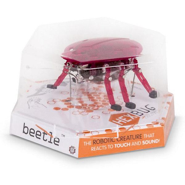 Микро-робот Beetle, HexbugИнтерактивные игрушки для малышей<br>Микро-робот Beetle, Hexbug (Хексбаг)<br><br>Характеристики:<br><br>• разворачивается при столкновении с препятствием<br>• датчик касания и датчик шума<br>• реалистичные движения<br>• привлекательный дизайн<br>• материал: пластик, металл<br>• батарейки: AG13 - 2 шт.<br>• размер упаковки: 12х11х6 см<br>• вес: 35 грамм<br><br>Beetle - маленький микроробот, напоминающий настоящего жука. Его движения такие же ловкие и быстрые. При столкновении с препятствием робот разворачивается и начинает двигаться в другом направлении. А если робот перевернется на спинку, то он начнет забавно двигать лапками, словно настоящий жук. Яркий дизайн из полупрозрачного пластика делает робота невероятно привлекательным для взрослых и детей.<br><br>Микро-робота Beetle, Hexbug (Хексбаг) вы можете купить в нашем интернет-магазине.<br>Ширина мм: 90; Глубина мм: 60; Высота мм: 110; Вес г: 70; Возраст от месяцев: 36; Возраст до месяцев: 2147483647; Пол: Унисекс; Возраст: Детский; SKU: 5507197;
