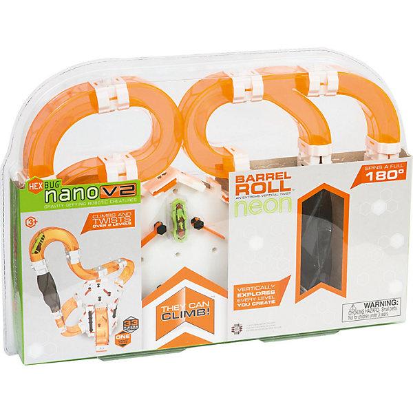 Игровой набор Nano V2 Barrel Roll, HexbugИнтерактивные животные<br>Игровой набор Nano V2 Barrel Roll, Hexbug (Хексбаг)<br><br>Характеристики:<br><br>• есть направляющие флажки<br>• вертикальные тоннели и крутые спуски<br>• микро-робот в комплекте<br>• количество деталей: 35<br>• батарейки: AG13 - 1 шт. (входит в комплект<br>• размер упаковки: 42х28х5 см<br><br>Игровой набор Nano V2 Barrel Roll отлично дополнит вашу коллекцию нанодромов и станет игровой площадкой для маленьких жучков. Микро-роботы смогут карабкаться по вертикальным тоннелям и быстро спускаться по крутым горкам. Детали сочетаются с другими наборами Hexbug. В комплект входят направляющие флажки, которые помогут вам выбрать правильный маршрут для жучков.<br><br>Игровой набор Nano V2 Barrel Roll, Hexbug (Хексбаг) вы можете купить в нашем интернет-магазине.<br>Ширина мм: 290; Глубина мм: 40; Высота мм: 410; Вес г: 579; Возраст от месяцев: 36; Возраст до месяцев: 2147483647; Пол: Унисекс; Возраст: Детский; SKU: 5507202;