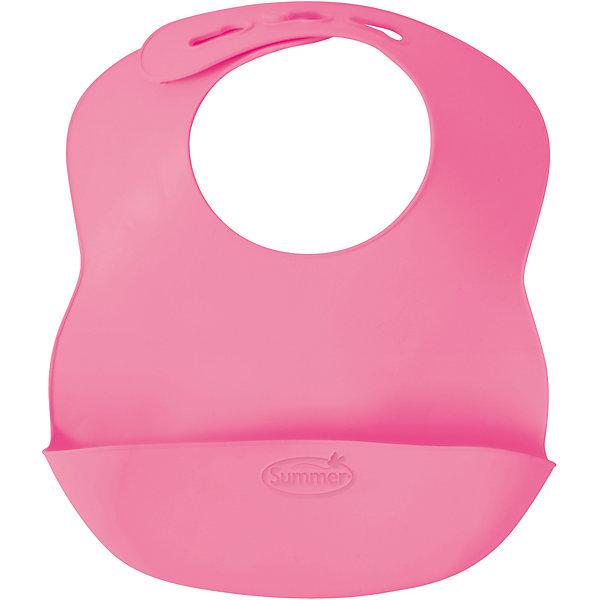 Нагрудник Bibbity, Summer Infant, розовыйНагрудники и салфетки<br>Характеристики:<br><br>• регулируемый размер воротничка нагрудника;<br>• кармашек для крошек;<br>• мягкие изгибы нагрудника;<br>• не содержит бисфинол А;<br>• материал: гибкий пластик;<br>• размер нагрудника: 27,5х23х5 см;<br>• вес: 120 г.<br><br>Пластиковый нагрудник пригодится малышам старше 6 месяцев. Специальный кармашек создан специально для собирания крошек, которые сыплются в процессе приема пищи ребенком. Нагрудник имеет регулируемый ремешок, чтобы подобрать оптимальный размер окружности воротничка нагрудники на шейке ребенка. Легко моется и освобождается от остатков пищи. <br><br>Нагрудник Bibbity, Summer Infant, голубой можно купить в нашем интернет-магазине.<br>Ширина мм: 230; Глубина мм: 275; Высота мм: 50; Вес г: 120; Возраст от месяцев: 6; Возраст до месяцев: 36; Пол: Женский; Возраст: Детский; SKU: 5508010;