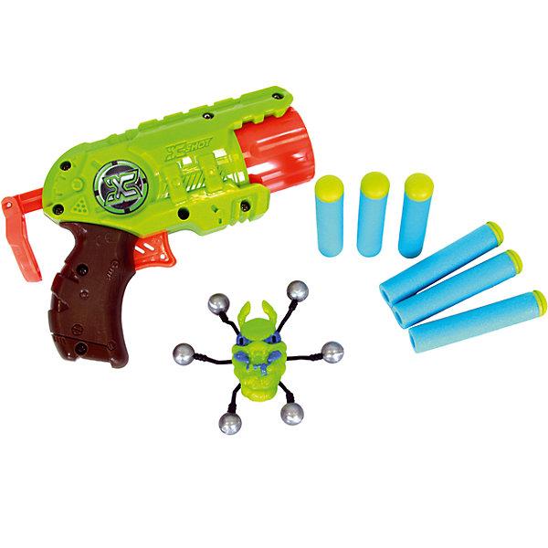 ZURU Микро-бластер с мишенями Атака Пауков, Zuru бластер x shot атака пауков зеленый коричневый красный 4815