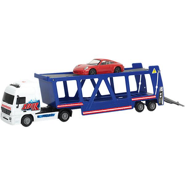 Dickie Toys Игровой набор Dickie toys Автовоз + машинка Porsche 38 см, 1:43 dickie toys игровой набор аэропорт