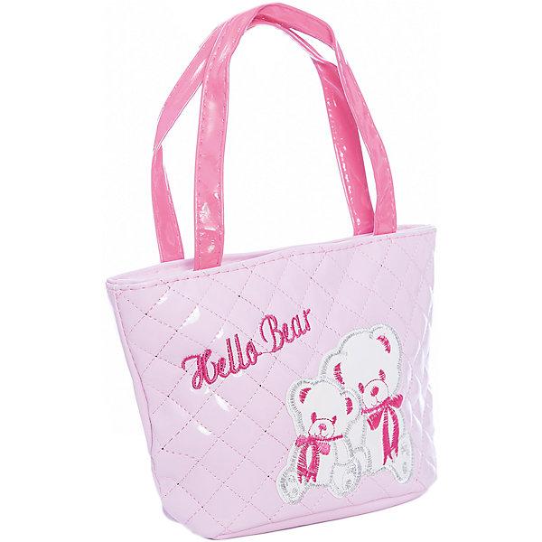 Сумочка Мишки, розовая, 18х20 см.Детские сумки<br>Сумочка Мишки, розовая, 18х20 см., Shantou Gepai (Шанту Гепаи)<br><br>Характеристики:<br><br>• две ручки<br>• застегивается на молнию<br>• стильный дизайн<br>• материал: текстиль<br>• размер: 18х20 см<br>• цвет: розовый<br>• размер упаковки: 17х13х22 см<br>• вес: 82 грамма<br><br>Легкая и удобная  сумка Мишки станет отличным дополнением к образу маленькой модницы. В ней девочка сможет разместить любимые аксессуары, косметику и другие принадлежности. Сумка застегивается на молнию и имеет две удобные ручки. Сумка выполнена в нежно-розовом цвете и декорирована изображением прелестных медвежат.<br><br>Сумочка Мишки, розовая, 18х20 см., Shantou Gepai (Шанту Гепаи) можно купить в нашем интернет-магазине.<br>Ширина мм: 230; Глубина мм: 130; Высота мм: 1800; Вес г: 82; Возраст от месяцев: 36; Возраст до месяцев: 2147483647; Пол: Женский; Возраст: Детский; SKU: 5508571;