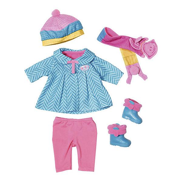Одежда для куклы Zapf Creation Baby Born Одежда для прохладной погоды, 6 предметовОдежда для кукол<br>Характеристики товара:<br><br>• возраст: от 12 месяцев;<br>• комплект: пальтишко, леггинсы, непромокаемые сапожки, шапочка, шарф;<br>• из чего сделана игрушка (состав): текстиль, пластик;<br>• подходящая высота куклы: 43 см.;<br>• упаковка: картонная коробка;<br>• страна обла<br>Ширина мм: 367; Глубина мм: 325; Высота мм: 83; Вес г: 430; Возраст от месяцев: 36; Возраст до месяцев: 60; Пол: Женский; Возраст: Детский; SKU: 5508604;