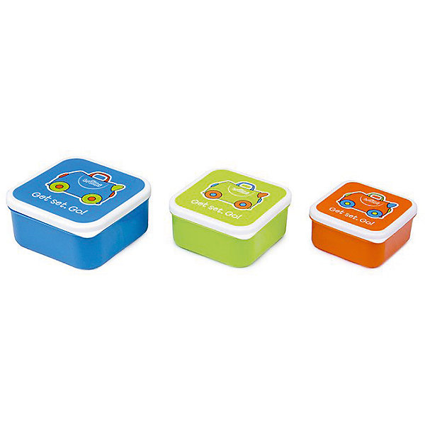 TRUNKI Контейнеры для еды 3 шт, голубой, оранжевый, зеленый trunki подголовник yondi mylo оранжевый