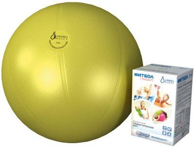 Фитбол  Стандарт , желтый, 450 мм, Альпина Пласт, артикул:5510690 - Фитнес