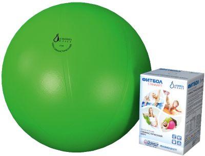 Фитбол  Стандарт , зеленый, 550 мм, Альпина Пласт, артикул:5510691 - Фитнес