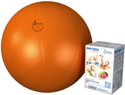 Фитбол  Стандарт , оранжевый, 650 мм, Альпина Пласт, артикул:5510693 - Фитнес