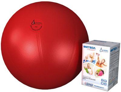 Фитбол  Стандарт , красный, 750 мм, Альпина Пласт, артикул:5510694 - Фитнес