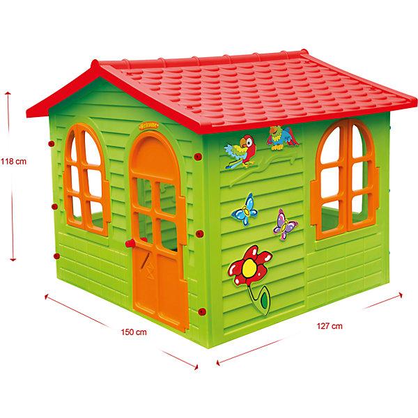 Домик-вилла, MochtoysДомики<br>Домик-вилла, Mochtoys.<br><br>Характеристики:<br><br>• Для детей в возрасте: от 1 года<br>• Размер: 127х150х118 см.<br>• Конструкция сборная (собирается с помощью пластиковых болтов и гаек)<br>• Материал: пластик<br>• Цвета: зеленый, красный, оранжевый<br>• Размер упаковки: 16х115х132 см.<br>• Вес: 19,3 кг.<br><br>Домик-вилла Mochtoys идеально подойдет для игр вашего ребенка на открытом воздухе и в помещении! Размеры домика достаточны, чтобы вместить несколько детей одновременно, что обеспечивает невероятные возможности для совместных игр малышей. В домике есть окна и дверь арочной формы. Два окна оборудованы открывающимися рамами. Дверь домика открывается. Одна из стен домика украшена бабочками, попугайчиками и цветком. На крыше имитация черепицы. Дизайн домика продуман таким образом, что у ребенка создается полное впечатление того, что он находится в настоящем доме. Все детали дома надежно фиксируются между собой и не разбалтываются при активной эксплуатации.  Конструкция домика устойчивая и надежная, острые края отсутствуют, поэтому он абсолютно безопасен для детей. Изделие выполнено в соответствии с европейскими стандартами качества из высококачественного, прочного пластика. Материал не выгорает на солнце и морозоустойчив (не боится морозов до -15 градусов). Домик прост в уходе, его можно мыть на даче из шланга проточной водой.<br><br>Домик-виллу, Mochtoys можно купить в нашем интернет-магазине.<br>Ширина мм: 1270; Глубина мм: 1500; Высота мм: 1180; Вес г: 19300; Возраст от месяцев: 12; Возраст до месяцев: 120; Пол: Унисекс; Возраст: Детский; SKU: 5510708;