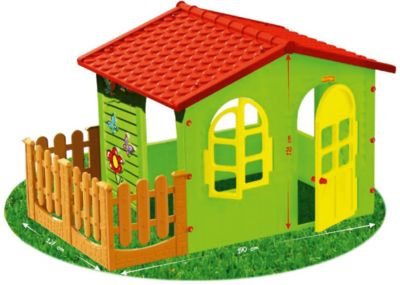 Домик с забором-садовый, Mochtoys, артикул:5510711 - Детская площадка
