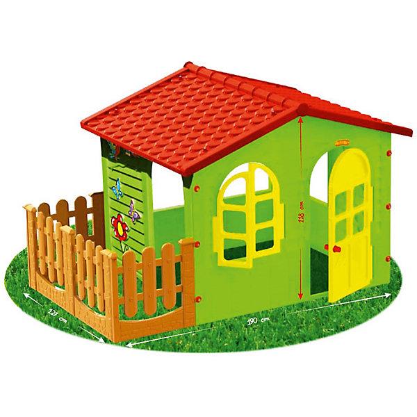 Mochtoys Домик с забором-садовый,