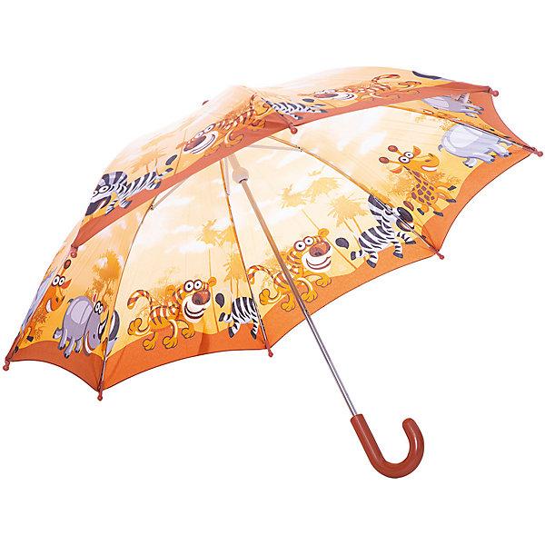 Зонт-трость Zest ЗоопаркАксессуары для путешествий<br>Красочный детский зонтик Zest трость, механика, 8 спиц, купол 72 см, материал купола полиэстер, ручка зонта из пластика, материал каркаса - сталь. Концы спиц зонтика прикрыты специальными колпачками. ВЕТРОУСТОЙЧИВАЯ КОНСТРУКЦИЯ. Внимание! В сильный ветер не эксплуатировать! Зонт может сломаться. Гарантия 6 месяцев, срок службы 5 лет.<br>Ширина мм: 680; Глубина мм: 0; Высота мм: 0; Вес г: 310; Возраст от месяцев: 36; Возраст до месяцев: 2147483647; Пол: Унисекс; Возраст: Детский; SKU: 5511987;