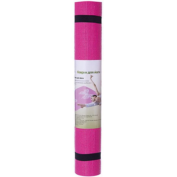 Коврик для йоги  ВВ8300, Z-Sports, розовыйКоврики для фитнеса<br>Основные характеристики<br><br>Материал: поливинилхлорид<br>Размер: 172х61х0,4см<br>Вес: 0,94кг<br>Цвета в ассортименте (розовый, фиолетовый, салатовый)<br>Вид применения: для занятий йогой, фитнесом, гимнастикой и аэробикой<br>Страна-производитель: Китай<br>Упаковка: термоусадочная пленка с цветным постером<br><br>Изделие изготовлено из современного материала, мягкого, но одновременно достаточно прочного, способного выдержать сильные механические нагрузки. Коврик без дополнительных приспособлений жестко фиксируется на самой гладкой поверхности, не скользит и приятен на ощупь. Его эстетические параметры вполне соответствуют современным требованиям - на поверхности имеются рисунки. Применяется для занятий йогой, фитнесом и аэробикой как в домашних условиях, так и в спортзалах. <br><br>Преимущества коврика BB8300:<br>- противоскользящая поверхность;<br>- оптимальный размер и вес;<br>- приятный современный дизайн и расцветка;<br>- его легко мыть и хранить, скатав в рулон.<br>Ширина мм: 100; Глубина мм: 100; Высота мм: 610; Вес г: 1000; Возраст от месяцев: 36; Возраст до месяцев: 192; Пол: Унисекс; Возраст: Детский; SKU: 5512947;
